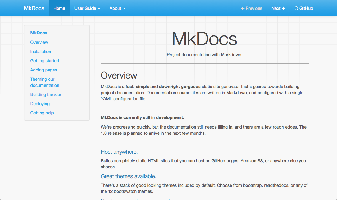 Styling Your Docs - MkDocs