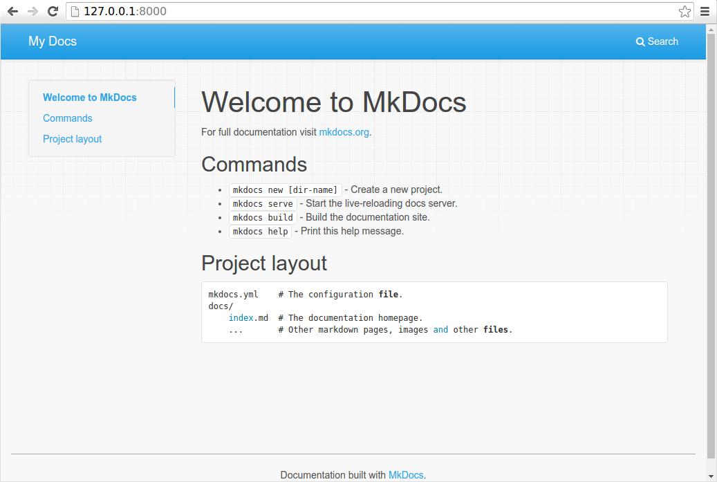 http://www.mkdocs.org/img/screenshot.png